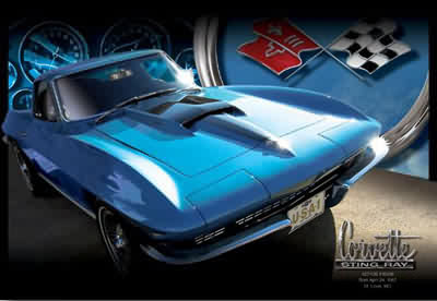 Description: Description: Description: Description: Description: Description: Description: Description: Description: Description: 1967 Corvette 427 Tri-Power Art